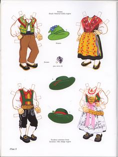 Italian Girl and Boy Paper Dolls (Sofi & Ernesta) / Kathy Allert, Dover (8 of 11)