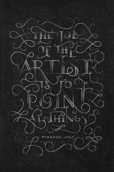 Miranda July Chalkboard on Behance