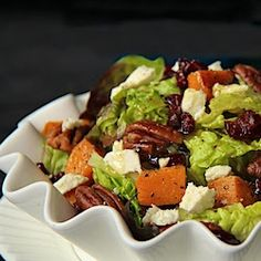 and Cranberry Salad w/ Feta, Sea-Salted-Roasted Pecans & Honey-Cumin ...