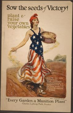 "Modern Farmer | 12 Fantastic Victory Garden Posters | wartime encouragement to cultivate ""backyard produce (dubbed ""war gardens"" in WWI and ""victory gardens"" in WWII, which shows how far the art of positive spin had progressed in just a few decades)."" Love all of these; it was hard picking one to pin! ""Food will win the war."""