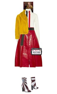 """""""Rafi #9470"""" by canlui ❤ liked on Polyvore featuring Moncler, Fendi, Tomas Maier, Jean-Paul Gaultier, Moschino, Anya Hindmarch, jacket, coat and coats"""