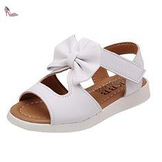 44cd068ee7846 Sandales Bébé Fille Ete Chaussue Bout Ouvert EU 22 - 31 Papillon Noeud  Borde (22