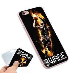 Dwyane Wade Miami Heat 2 Phone Ring Holder Soft TPU Silicone Case Cover for iPhone 4 4S 5C 5 SE 5S 6 6S 7 Plus