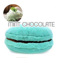 Macaron Kawaii Plushie Plush Pillow  CUTE  Mint by ObsessedHeart, $29.95