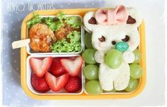 Cute bento - is that a nutella sandwich?