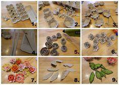 Tvoření od IVETULE: Kytičky z plata od vajec II.