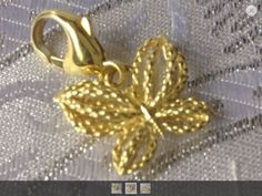 Ann King Sterling Silver 925 And Gold Plate Yellow Passion Butterfly Charm - http://designerjewelrygalleria.com/ann-king/ann-king-sterling-silver-925-and-gold-plate-yellow-passion-butterfly-charm/