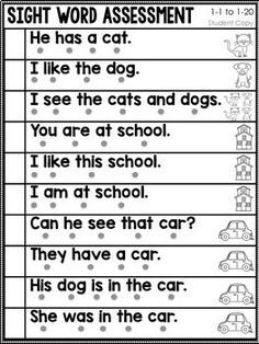 Sight Words Fluency and Word Work Phonics Reading, Teaching Phonics, Kindergarten Learning, Phonics Activities, Reading Comprehension Worksheets, Teaching Reading, Guided Reading, Reading Intervention Classroom, Preschool Lessons