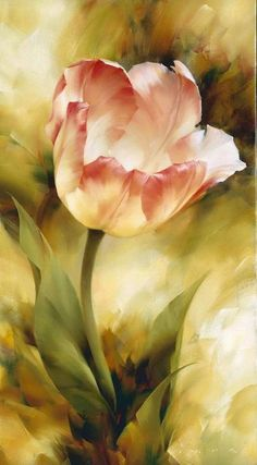 Tulip painting by artist Igor Levashov. Tulip Painting, Oil Painting Flowers, Artist Painting, Watercolor Flowers, Painting & Drawing, Watercolor Paintings, Oil Paintings, Landscape Paintings, Flower Paintings