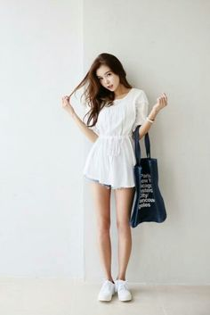 White dress never goes wrong