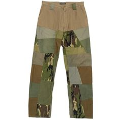 Pre-owned Dolce & Gabbana Trousers ($273) ❤ liked on Polyvore featuring men's fashion, men's clothing, men's pants, men's casual pants, khaki, men clothing trousers, dolce gabbana mens pants and mens khaki pants