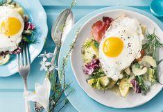 Erdäpfelsalat mit Spiegelei und Speck Foto: © Wolfgang Schardt