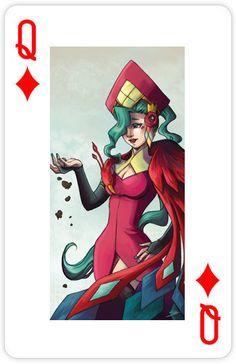 """The Diamond Phoenix""  Designed By: Serah Boey. From Custom 52 Playing Cards"