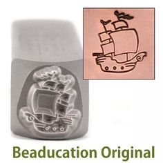 Pirate Ship Design Stamp- Beaducation Original