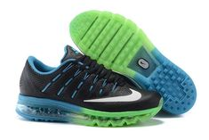 premium selection b6aae a99ae Shop for Nike Air Max 2016 Leather Mens Shoes Black Green Blue Authentic at  Pumafenty. Browse a abnormality of styles and edict online.