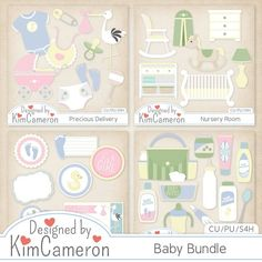 Baby Bundle - Newborn Infant - Layered PSD Templates with PNG by Kim Cameron for Digital Scrapbooking #CUDigitals  [kimc_Baby Bundle] : CU Digitals, Commercial Use Digital Scrapbooking Designs