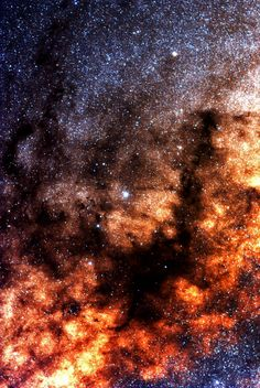 The core of The Milky Way ~ Stunning / Amazing to think of our standard Galaxy ( The Milky Way ) being like a gargantuan version of a planet such as Saturn's ring / our Galaxy is very ring like, as all Galaxies are when viewed from many light years away / so all clustered solar systems with planets all circling but ring diameter is very thin like Saturn's ring !! and like all Galaxies we have a supermassive black hole at the exact centre that keeps the Galaxy spinning down cosmic plug hole…