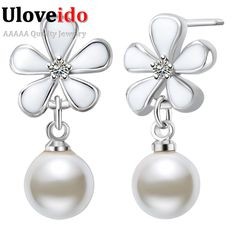 Find More Stud Earrings Information about UloveidoFlower Shape Earrings For Women Korean CZ Dimond Sterling Silver Pendientes De Mujer De Marca Boucle D'oreille R487,High Quality earrings for women,China shaped earrings Suppliers, Cheap earrings for from Ulovestore Fashion Jewelry on Aliexpress.com