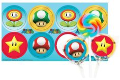 PartyBell.com - Super Mario Party #Lollipop Favor Kit