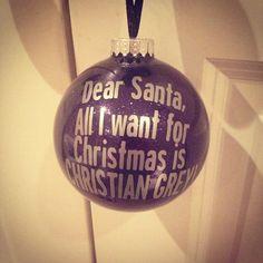 50 Shades of Grey Christmas Ornament