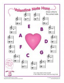 Valentine Note Hunt by Susan Paradis' Piano Teacher Resources