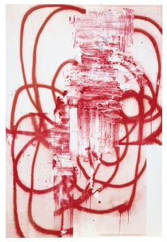 Untitled (2001) by American artist Christopher Wool (b.1955). silkscreen on linen. via Poul Webb art blog