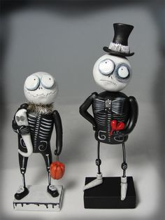 They look like little Tim Burton characters, I want them.