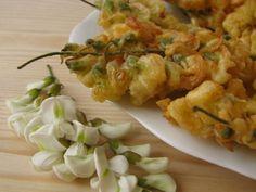 Akácvirág-csemege bundában kisütve Hungarian Recipes, Edible Plants, Cottage Cheese, Something Sweet, Shrimp, Main Dishes, Vegetarian, Meat, Food