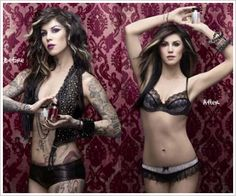 Kat Von D has created a conceler for women with tattoos. It can be used for work, weddings, etc. Its amazing what it can do. I personally think she's gorgeous with or without them!( I <3 her anyways)