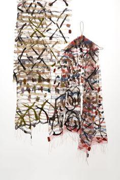 Jorie Johnson (Joi Rae): Confetti Shawls 2008, hand-woven silk fabric, wool. Photo by Toyoda Yuzo. / Keiko Gallery - Japanese artists
