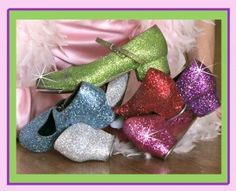 Glittery tap dance shoes!