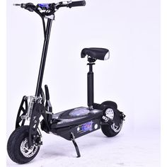 Brushless Motor Electric Scooter in Black 1300W 48V | Buy Motorised Scooters
