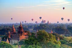 Bagan, o también Pagan, es la antigua Capital de varios reinos en Birmania. Está localizada en la árida meseta del País, junto a las riberas del Río Ayeyarwady y está a 145 kilómetros al suroeste de Mandalay.