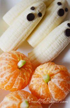 Divertida receta con fruta para  fiestas de Halloween