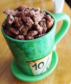 Disney cinnamon roasted almonds (substitute out white sugar for Paleo sweetener)