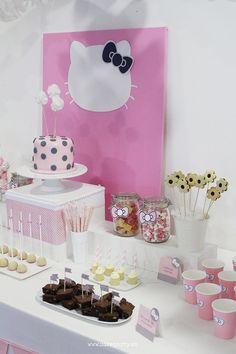 Nice Party mesa de dulces Hello Kitty (2)