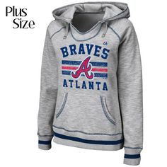 Atlanta Braves Women's PLUS All Time Slugger Hooded Fleece by Majestic Athletic - MLB.com Shop