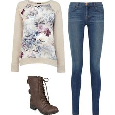 Untitled #375 by mustachemaniac03 on Polyvore featuring polyvore fashion style Warehouse J Brand Hailey Jeans Co.