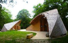 Inca Architectes, dome, eco-tourism, eco-travel, eco-tourism center, france, fontainebleau, Gorges de Franchard, biosphere reserve, green design, passive design, sustainable design, eco-design, natural materials, wood,