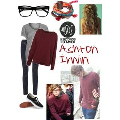 """Ashton Irwin inspired 2"" by ebgleek on Polyvore"
