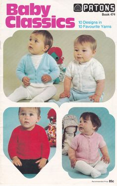 Patons Baby Classics Popular Designs Knitting  by jennylouvintage