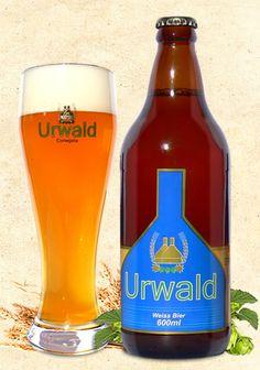 Cerveja Urwald Weizen, estilo German Weizen, produzida por Cervejaria Urwald, Brasil. 5.8% ABV de álcool.