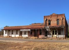 Abandoned Buildings in Neches, Texas.