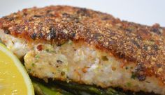 I love this recipe. It started with a packet of pistachio dukkah that I wanted to use up, and this is what I ended up with. It really jazzes up an already beautifully flavoured fish. Shellfish Recipes, Seafood Recipes, Cooking Recipes, Healthy Recipes, Cooking Ideas, Healthy Meals, Healthy Food, Yummy Food, Barramundi Fish Recipe
