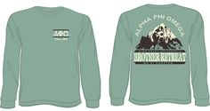 Alpha Phi Omega Mountain Weekend Long Sleeve Shirts  email red@theredtshirtco.com for a proof and pricing *Ships to North Carolina FREE of charge.  http://theredtshirtco.com/inquire/  #alphaphiomega #mountainweekend #greeklife #intramural #service #theredtshirtco