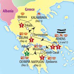Glories of Greece Escorted Tour 2013
