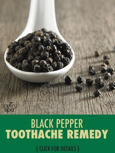 Black pepper isn't just for cooking. There are so many alternative uses for black pepper that it would be hard to name them all. A toothache remedy is just one use!