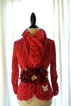 Shabby lace jacket