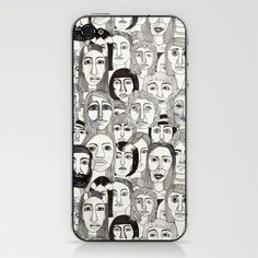 Faces in the Tube by Marina Molares IPHONE & IPOD SKIN