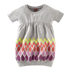 Colors of Autumn Dress - gorgeous tunic style for girls - love it in this sweatshirt material... I have some super lightweight grey stuff like this...